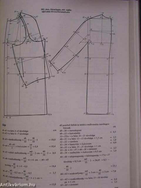 Molnár István  Férfi- és fiúruhák szerkesztése és szabása (Műszaki ... 478372eea1