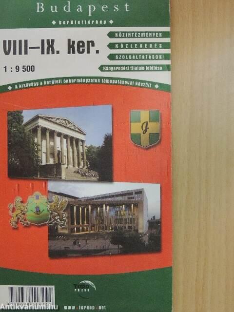 budapest viii térkép Budapest VIII IX. kerület (térkép) (TopoPress.Map Térképkiadó és  budapest viii térkép