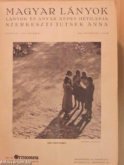 c71eeb7faa Radó Antal: Magyar Lányok 1934. október 1.-1935. szeptember 22 ...