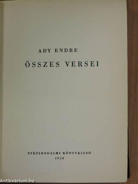 Ady Endre összes levelei