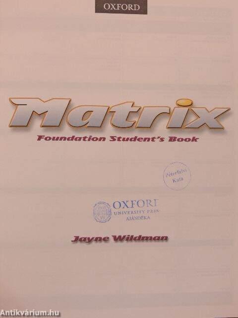 Matrix Foundation Students Book