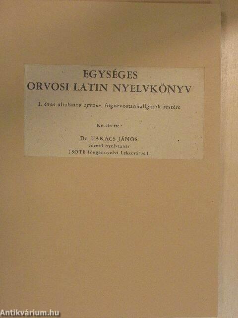 Orvosi latin könyv