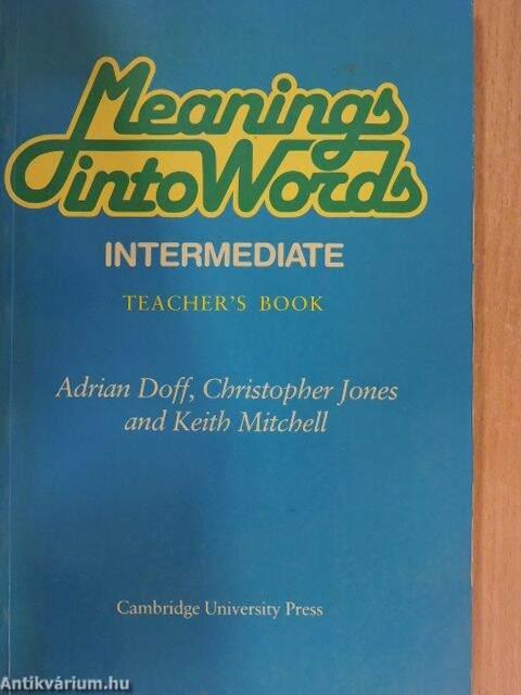Christopher Jones: Meanings into Words - Intermediate