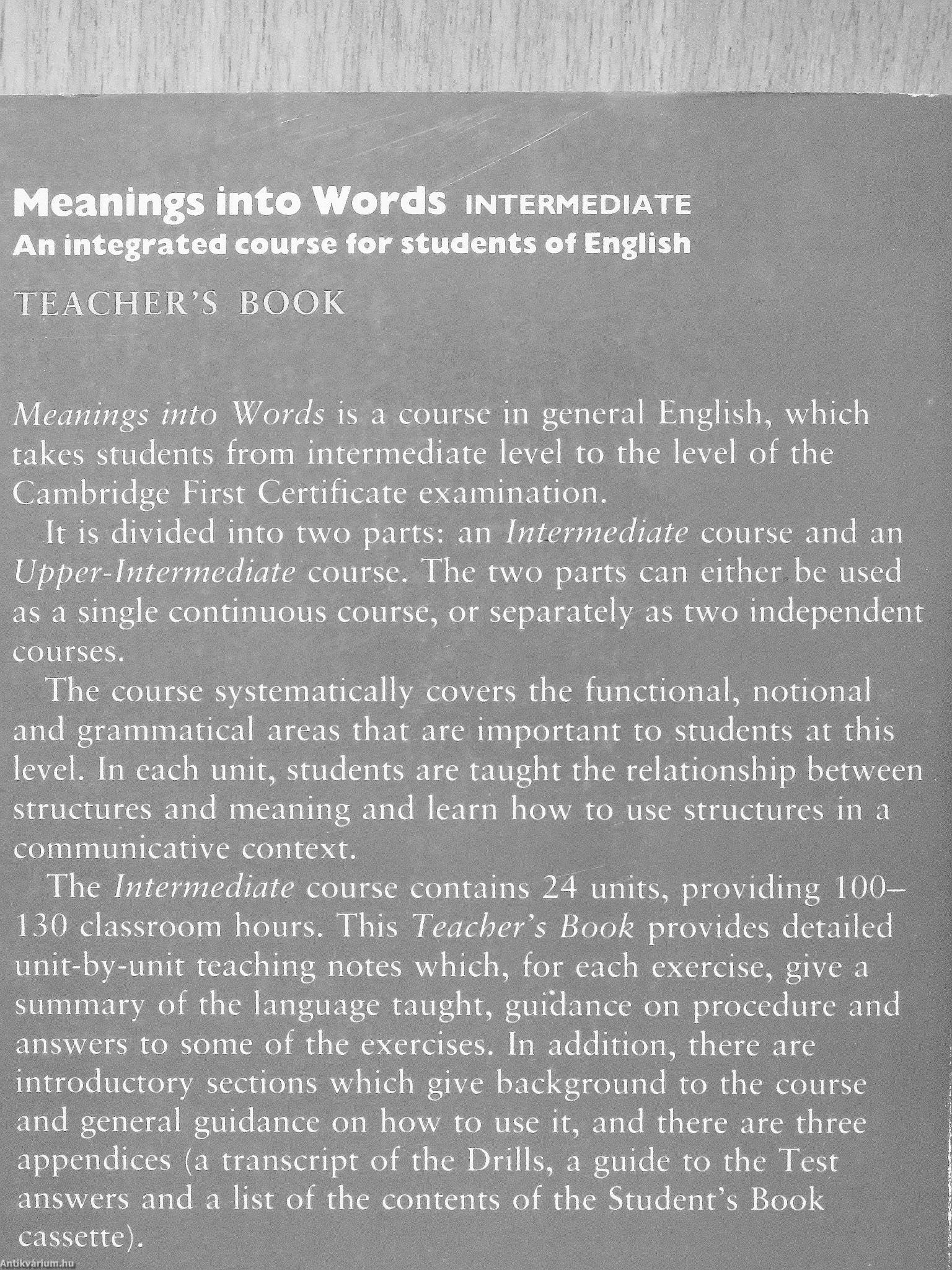 Christopher Jones: Meanings into Words - Intermediate
