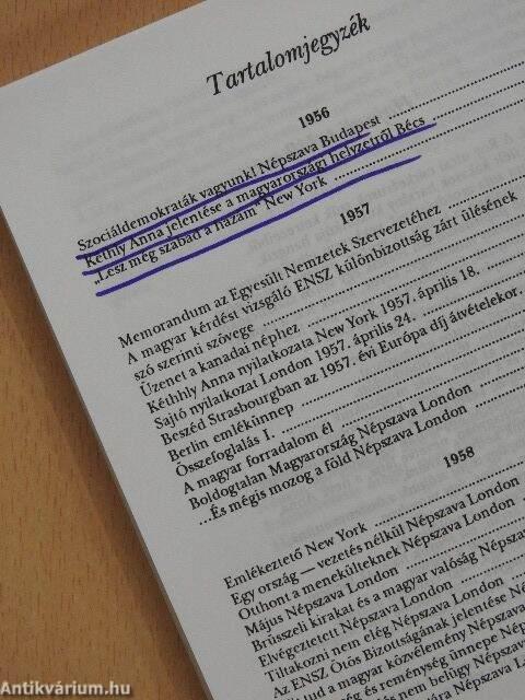 2c08c65b3c46 Kéthly Anna: Szabadságot Magyarországnak! (Kéthly Anna Alapítvány ...