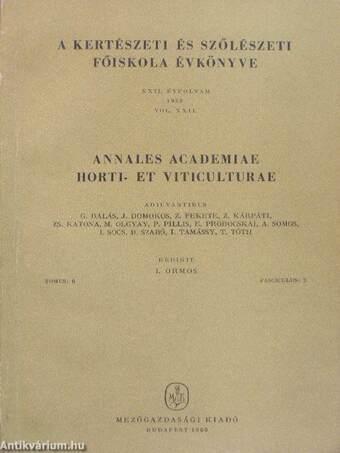 A kertészeti és szőlészeti főiskola évkönyve 1958