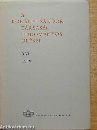 A Korányi Sándor Társaság tudományos ülései XVI.