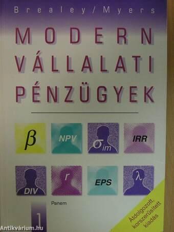 Modern vállalati pénzügyek 1-2.