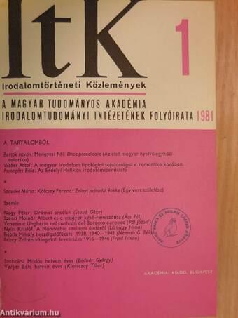 Irodalomtörténeti Közlemények 1981/1-6.
