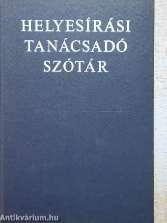 Helyesírási tanácsadó szótár