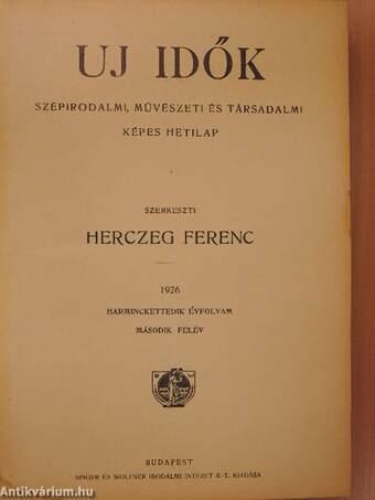 Uj Idők 1926. július-december II. félév