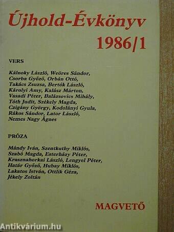 Újhold-Évkönyv 1986/1