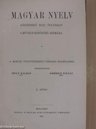 Magyar Nyelv 1914. január-december