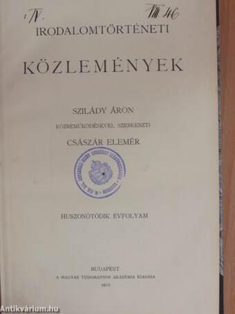 Irodalomtörténeti Közlemények 1915.