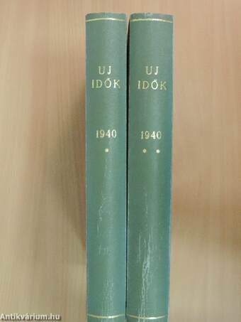 Uj Idők 1940. (nem teljes évfolyam) I-II.
