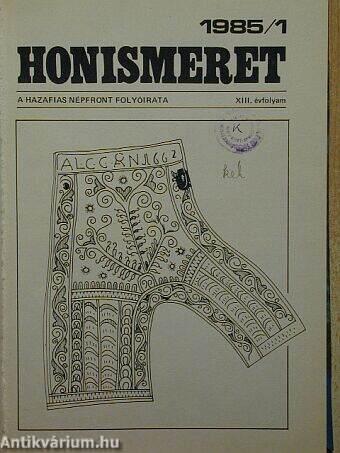 Honismeret 1985/1-6.