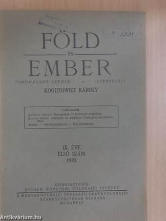 Föld és Ember 1929/1.