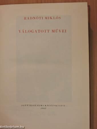 Radnóti Miklós válogatott művei