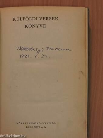 Külföldi versek könyve