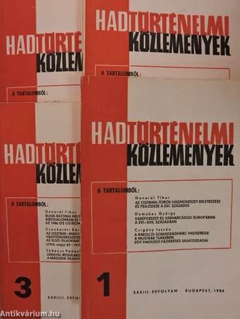 Hadtörténelmi Közlemények 1986/1-4.