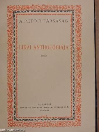 A Petőfi Társaság lírai anthológiája