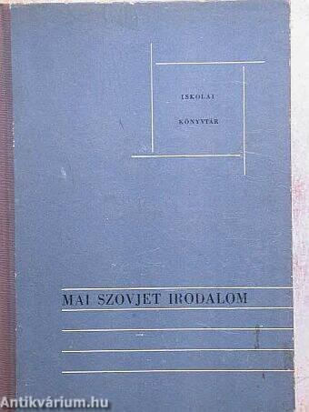 Mai szovjet irodalom