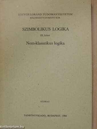 Szimbolikus logika III.