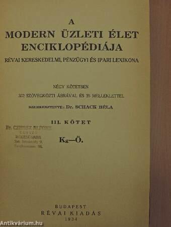 A modern üzleti élet enciklopédiája III. (töredék)