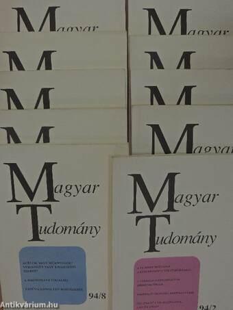 Magyar Tudomány 1994. (nem teljes évfolyam)