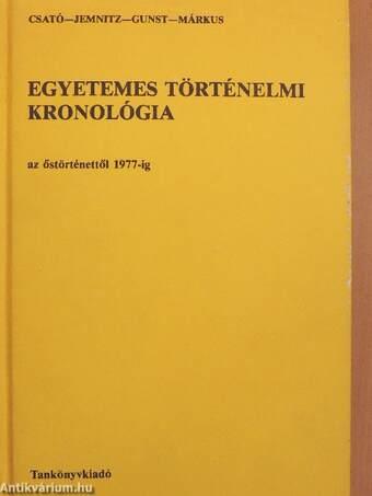 Egyetemes történelmi kronológia I-II.