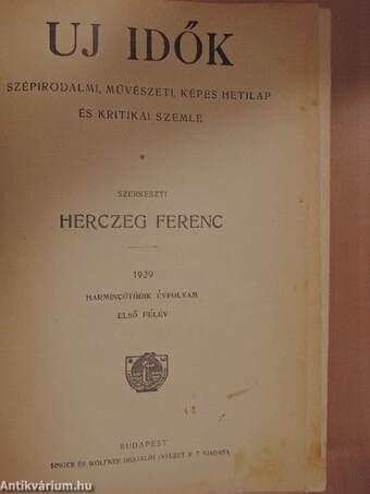 Uj Idők 1929. (nem teljes évfolyam)