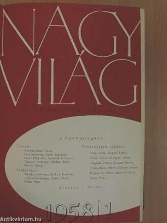Nagyvilág 1958. január-június (fél évfolyam)
