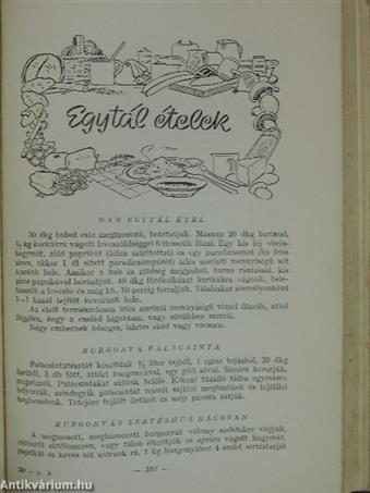 Vizvári Mariska szakácskönyve