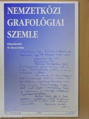 Nemzetközi grafológiai szemle 2005/1.