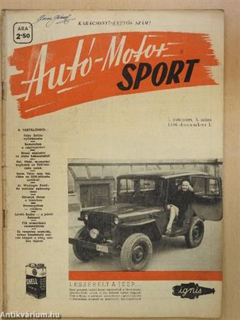 Autó-Motor Sport 1946. december 1.