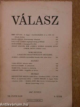 Válasz 1947. június