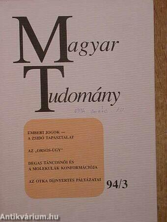 Magyar Tudomány 1994. március