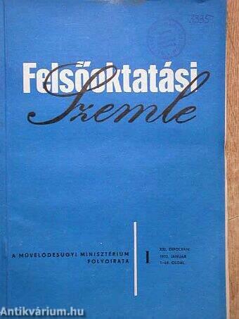 Felsőoktatási Szemle 1972. (nem teljes évfolyam)