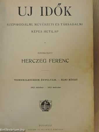 Uj Idők 1912. október-1913. március (fél évfolyam)