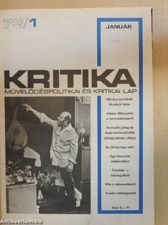 Kritika 1973. (nem teljes évfolyam)