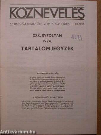 Köznevelés 1974. január-december I-II.