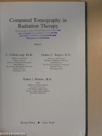 Computed Tomography in Radiation Therapy