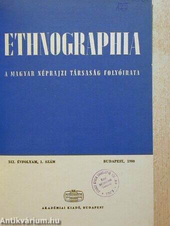 Ethnographia 1980/1-4.