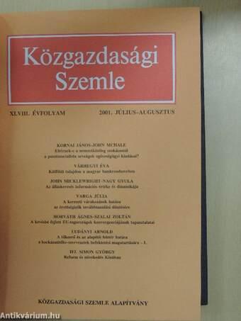 Közgazdasági Szemle 2001. július-december (fél évfolyam)