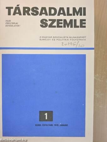 Társadalmi Szemle 1978. (nem teljes évfolyam)