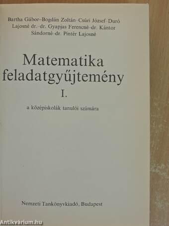Matematika feladatgyűjtemény I.