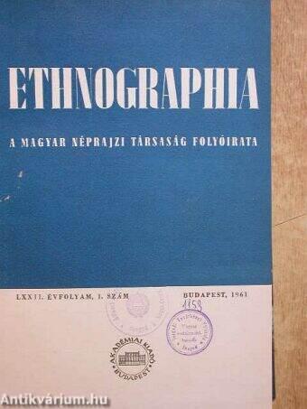 Ethnographia 1961/1-4.