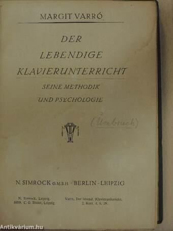 """Képtalálat a következőre: """"Der lebendige Klavierunterricht"""""""