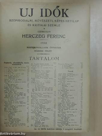 Uj Idők 1932. július-december (fél évfolyam)