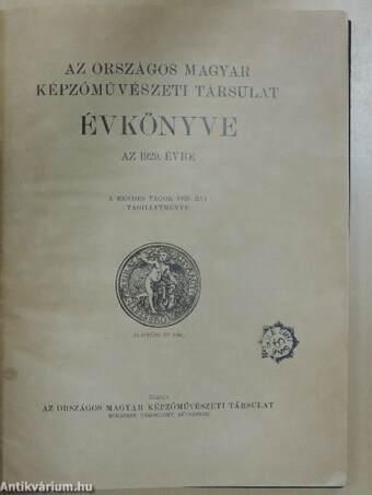 Az Országos Magyar Képzőművészeti Társulat Évkönyve az 1929. évre